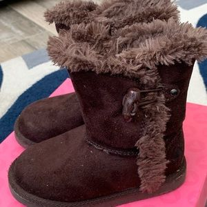 Chocolate brown toddler boots